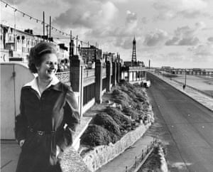 Margaret Thatcher in Blackpool in the 1970s
