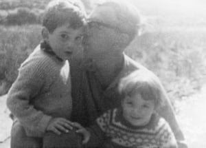 Hobsbawm with his children, Andy and Julia, in the 60s