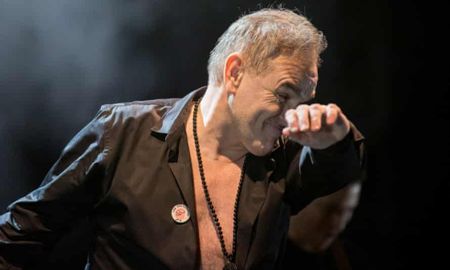 Morrissey on stage in Birmingham in February.