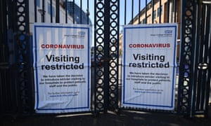 Coronavirus warning signs at King's College hospital in April