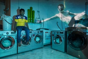 Foktul in his launderette