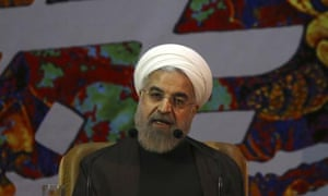 Hassan Rouhani said in a televised speech: 'If there is no end to sanctions, there will not be an agreement.'