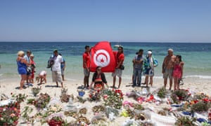 Memorial last July at the scene of attack in Sousse