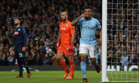 Manchester City rely on early goals to overcome Napoli in Champions League