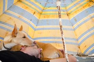 First place, Man's Best Friend: a dog named Godji