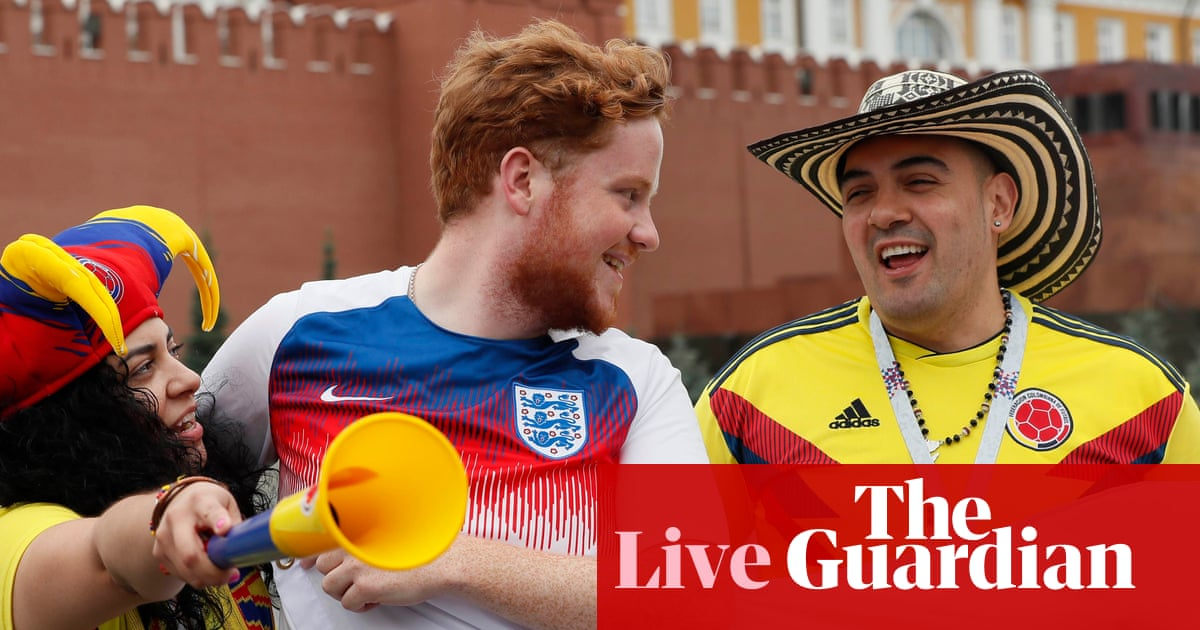 b0c85be5d Buildup and World Cup latest before Colombia v England – as it happened