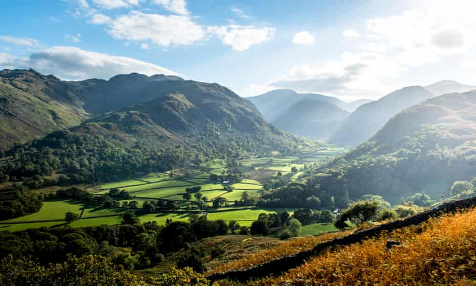 Thorneythwaite Farm in Borrowdale, Cumbria, where, in 2015, the National Trust purchased 303 acres of farmland, but not the farm buildings, to local outcry.