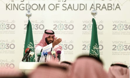 Mohammed bin Salman, the Saudi defence minister and deputy crown prince, answers press questions