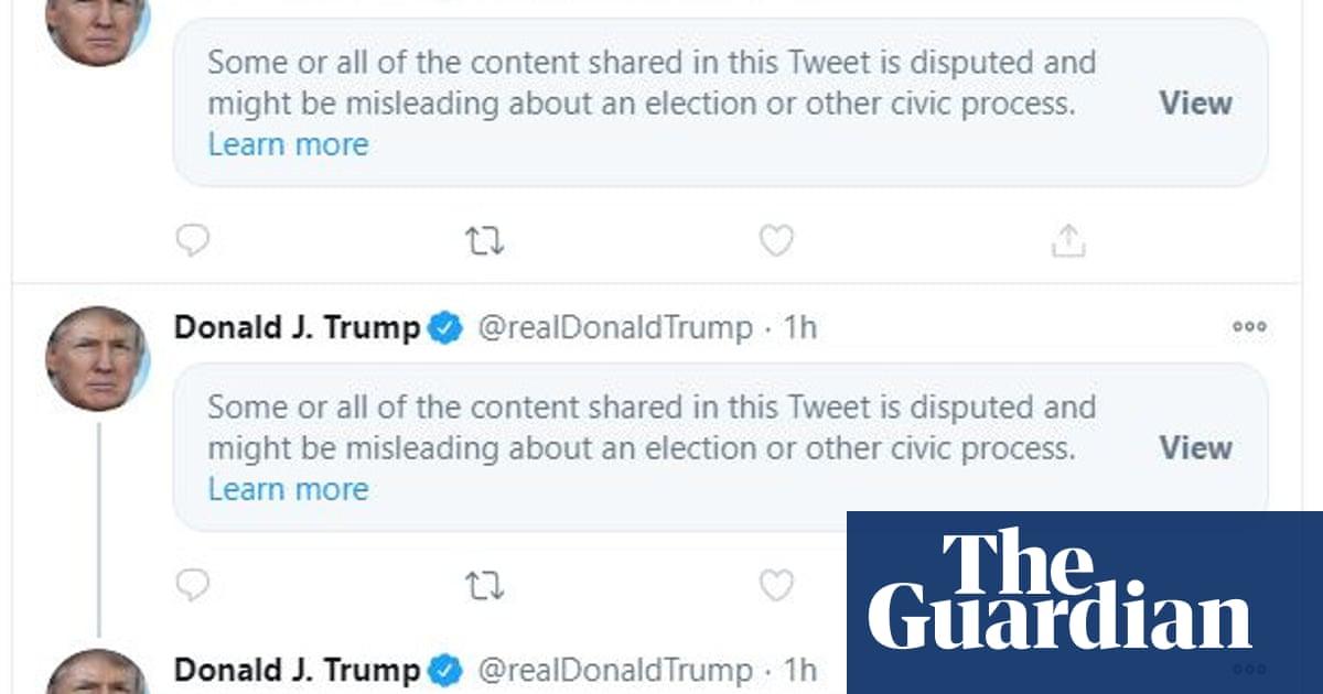 Trumps vote fraud claims go viral on social media despite curbs