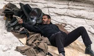 Denzel Washington as Sam Chisholm in The Magnificent Seven
