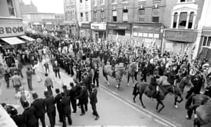 National Front supporters march through Lewisham