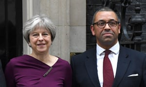 James Cleverly with Theresa May following his appointment as Conservative party deputy chair in January.