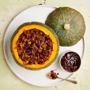 Whole pumpkin and walnut biryani.