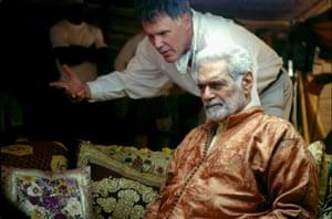 Omar Sharif and director Joe Johnston on the set of Hidalgo, 2004