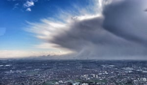 London, UKThe National Police Air Service captured this foreboding snow cloud hanging over the London skyline.