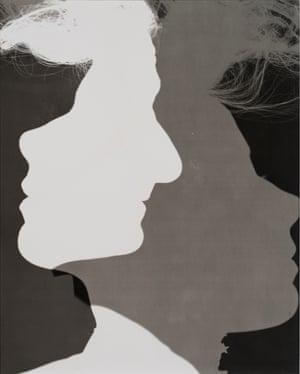 Erwin Blumenfeld, Shadowed Silhouettes,