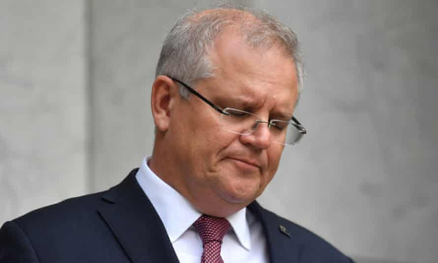 Scott Morrison at a press conference on Thursday. The latest Essential poll shows Australians are taking the threat of coronavirus more seriously.