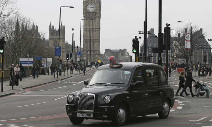 A black taxi in London