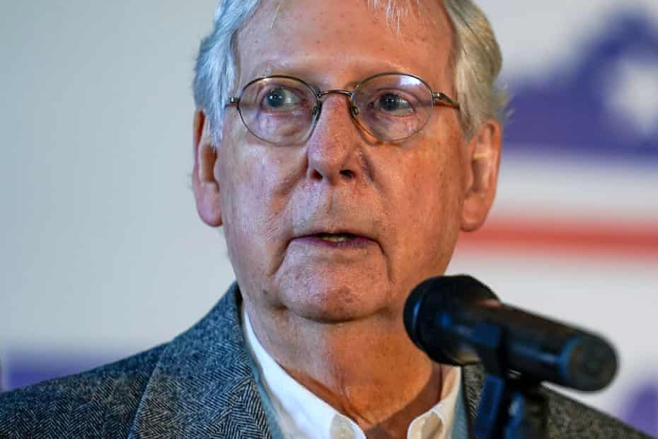 The Senate majority leader, Mitch McConnell, faced a well-funded challenge in Kentucky.