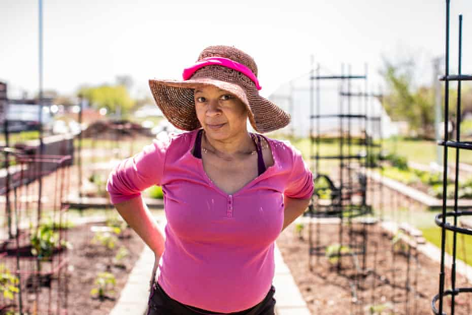 Alyson Graham now grows her own fruit and vegetables at the Westbury community garden.
