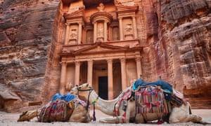 Part of the ancient city of Petra, Jordan.