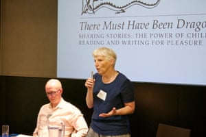 Julia Eccleshare, children's book editor, welcomes delegates to the Guardian Education Centre Reading for pleasure conference 4 July 2019 and introduces first speaker, Piers Torday