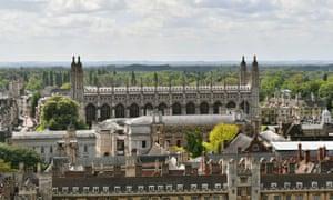 Pemandangan Universitas Cambridge.