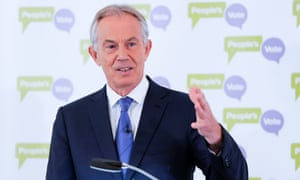 Tony Blair delivers a speech on Brexit.