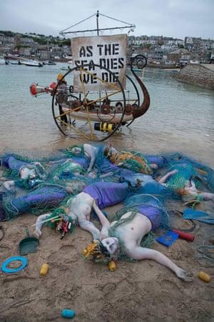 The Ocean Rebellion stranded mermaids protest