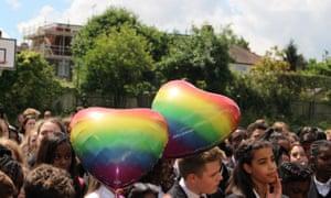 Woodbridge High School celebrating diversity week last year