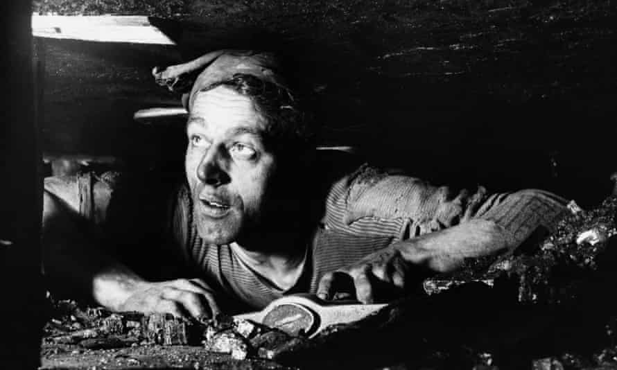 A miner at the Lilly Drift Coal Mine works in a 13-inch seam near Newcastle upon Tyne.