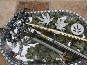 Cannabis jewelry from Genifer M.