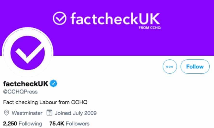 The Conservative party's Twitter account was rebrande