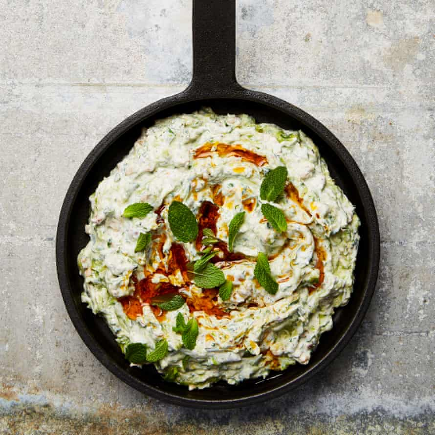 Yotam Ottolenghi's courgette and walnut yoghurt.