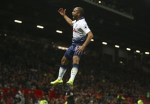 Moura celebrates his second.