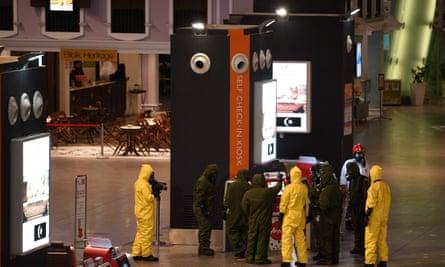 Forensics at Kuala Lumpur airport