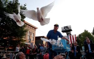 Dayton, Ohio: Doves are released in Oregon district