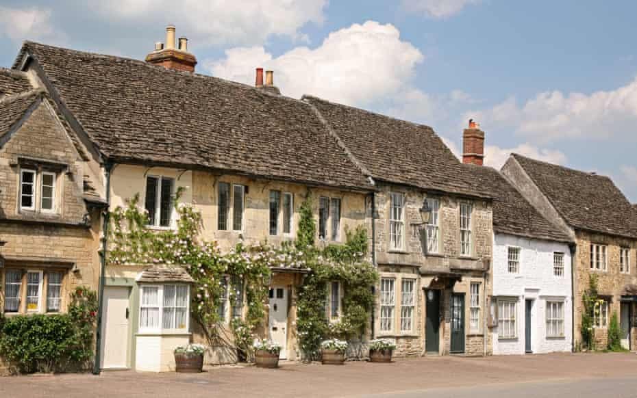 Cottages, Lacock village, Wiltshire, UK