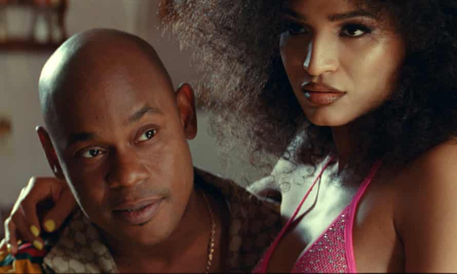 Bokeem Woodbine and Indya Moore in Queen and Slim.
