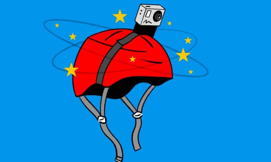 GoPro on a helmet