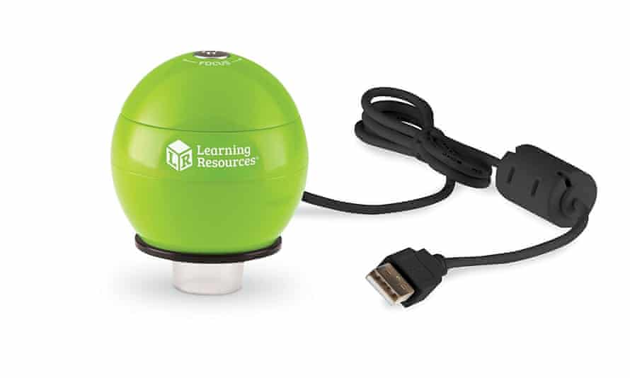 Learning Resources' Zoomy handheld microscope.