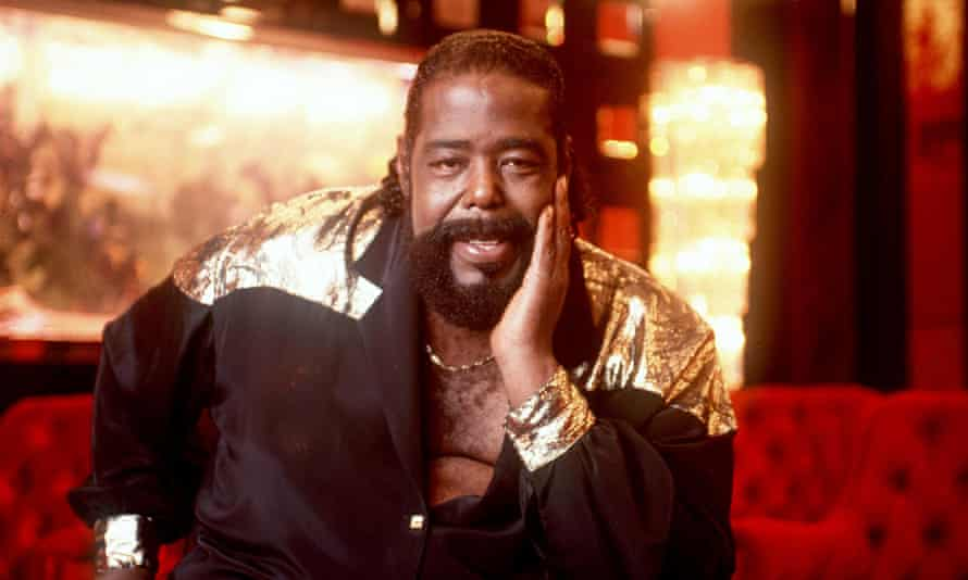 Barry White, the soul singer and sex symbol famous for his deep voice.