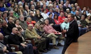 Real talk (at a South Carolina town hall Thursday).
