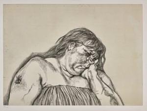 Woman With an Arm Tattoo, 1996, Lucian Freud