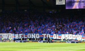 Rangers fans during the Scottish Cup semi-final match at Hampden.