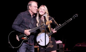 Glen and Ashley Campbell perform in Austin, Texas.