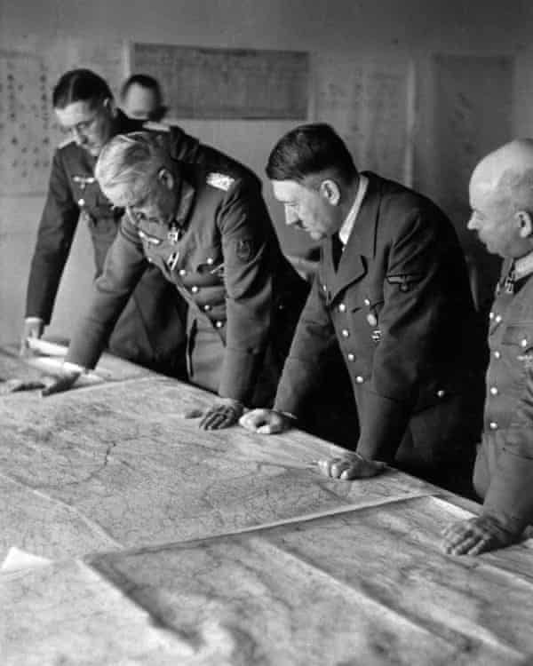 Hitler working out the offensive against Stalingrad.