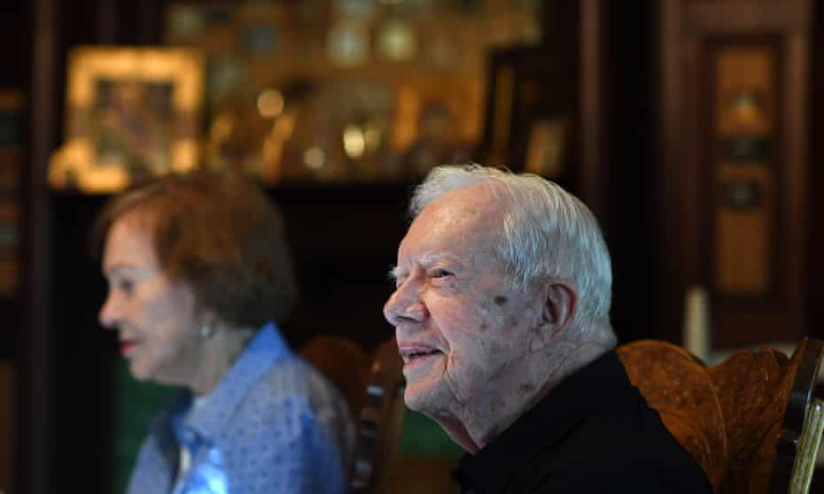 Former president Jimmy Carter with his wife Rosalynn in 2018. Was Carter actually so ineffectual?
