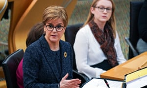 Nicola Sturgeon at first minister's questions.
