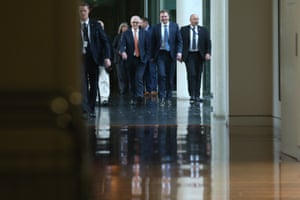 Malcolm Turnbull makes his way to the party room on Friday